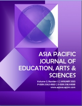 Asia Pacific Journal of Education, Arts and Sciences