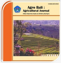 Agro Bali: Agricultural Journal