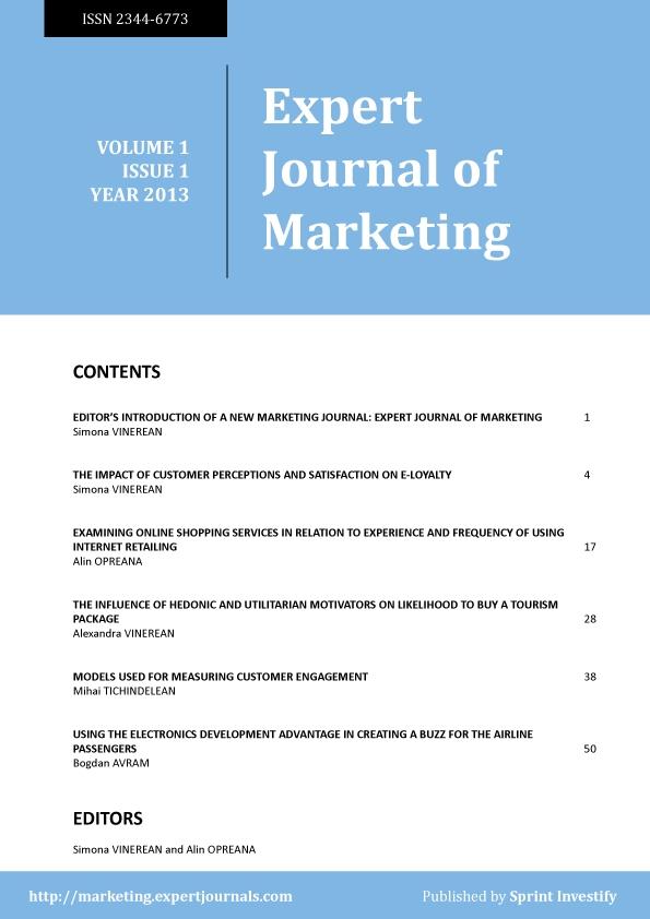 Journal: Expert Journal of Marketing