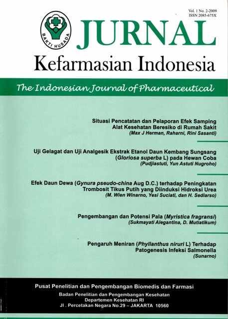 Journal Jurnal Kefarmasian Indonesia