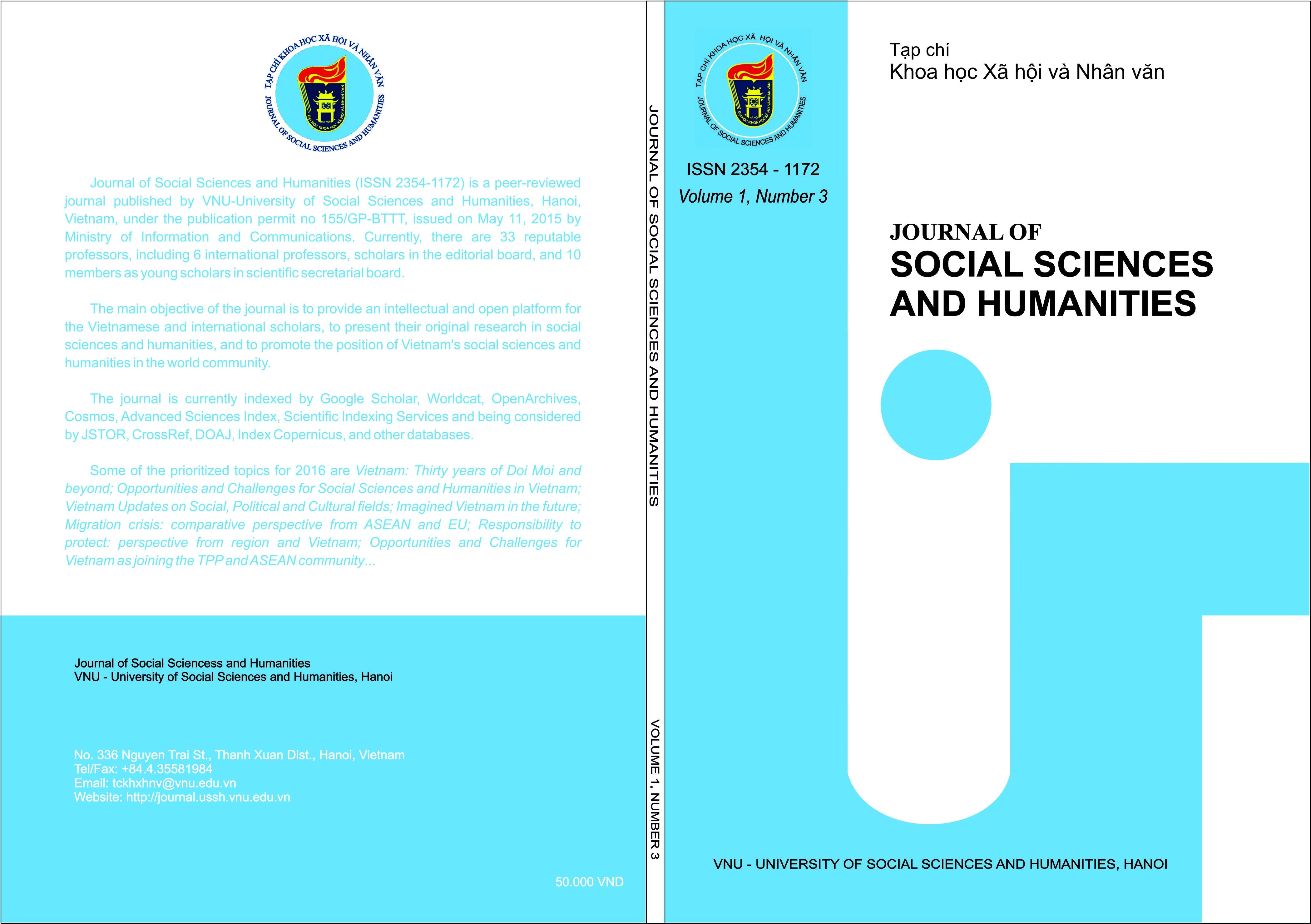 Journal: Vietnam Journal of Social Sciences and Humanities